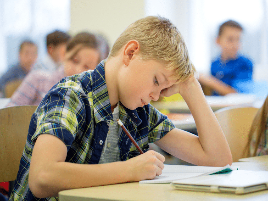 student suffering from learning loss due to summer slump